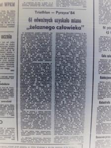 wycinek z gazety