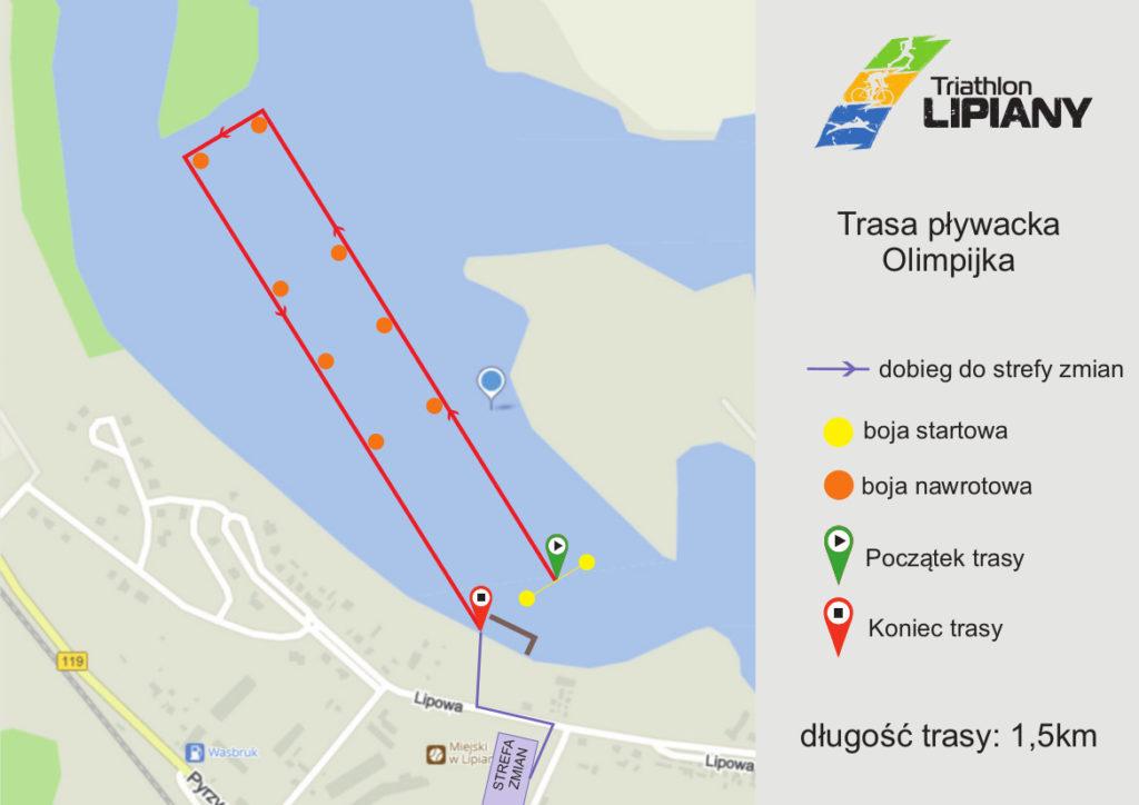 trasa pływacka Olimpijka