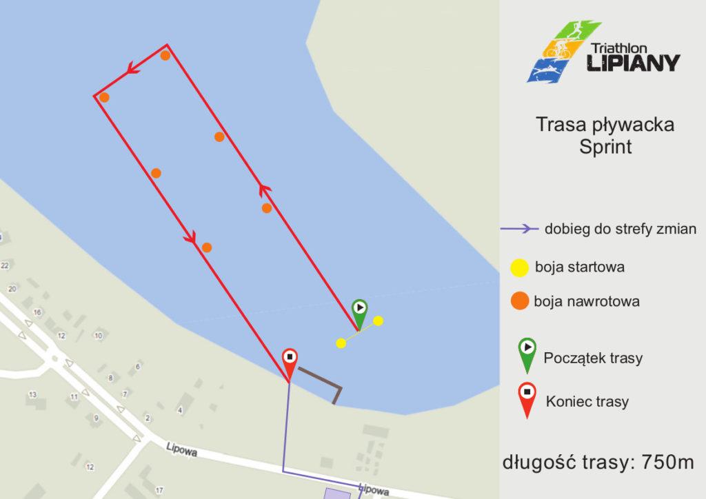 trasa pływacka sprint